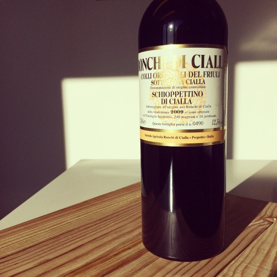 A fantastic review for Ronchi di Cialla's 2009 Schioppettino di Cialla from Ian D'Agata
